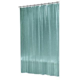 Floral Teal Blue Green Grey Aqua Tropical Fabric Shower