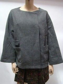 IRO Grey Wool Mix Jacket Coat Top 0 XS $255