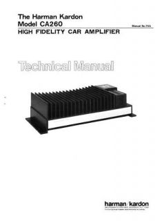 Harman Kardon CA260 Technical (Service) Manual