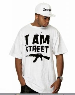 AM STREET Hip Hop Thug Life Urban Gangster Tshirt Tee