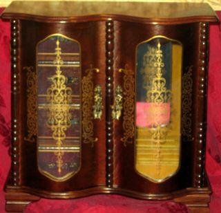 Solid Oak Mirrored Jewelry Armoire Music Box
