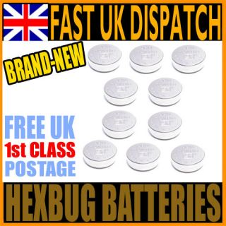 PACK OF 10 REPLACEMENT BATTERIES FOR HEXBUG NANO, INCHWORM, CRAB HEX