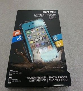 Brand New Lifeproof iPhone 4/4S Case Teal/Aqua New In Box Apple Cover