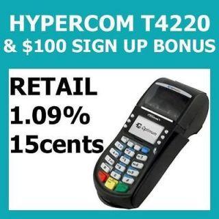 FREE Credit Card Machine Processing HYPERCOM T4220 &$100Bonus