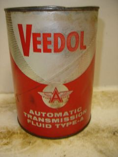 Vintage VEEDOL Automatic Transmission Fluid Quart Cardboard Can