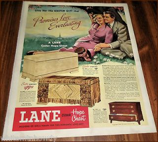 LANE CEDAR HOPE CHEST AD Model 23242300​2221 Antique Vintage
