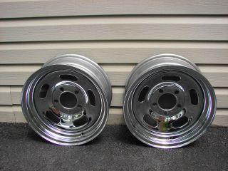 VINTAGE NOS FENTON CHROME SLOT WHEELS 14X6 4.5 4.75 BOLT CIRCLE GM