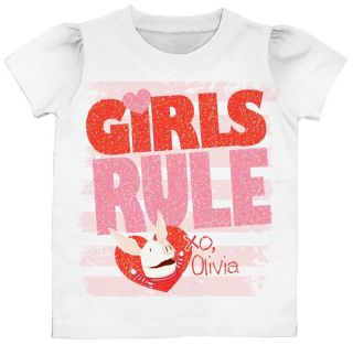 Olivia the Pig Nickelodeon Girls T Shirt GIRLS RULE 2T 3T 4T 5T