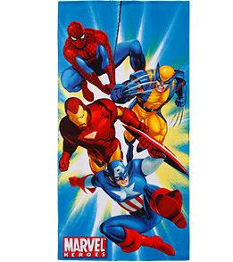Marvel Hero Iron Man Captain America beach towel bath