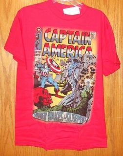 NWT MARVEL CAPTAIN AMERICA T SHIRT   RED / WHEN WAKE THE SLEEPER