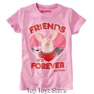 NEW~OLIVIA the Pig Girls Pink Friends are Forever Short Sleeve Shirt