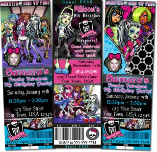 Monster High Birthday Invitations Diy Printable