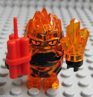 NEW Lego Power Miners FIRAX LAVA ROCK MONSTER  Trans Orange w/Dynamite
