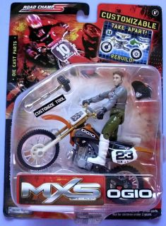 ROAD CHAMPS OGIO RACING 2005 MXS BIKE AND RIDER TOY   ONLY ONE! VHTF