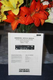 ONKYO INTEGRA P   3200 STEREO PREAMPLIFIER SERVICE MANUAL