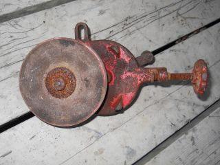 vintage american made bench grinding wheel 4 1/2  wheel