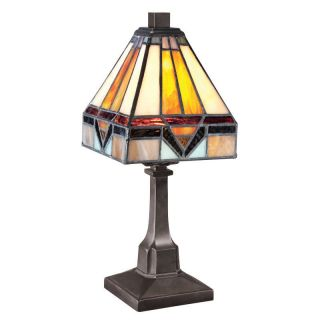 Quoizel TF1021TVB Vintage Bronze Tiffany / Stained Glass 1 Light Table