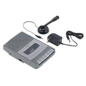 RCA SHOEBOX CASSETTE TAPE PLAYER RECORDER W/ MICROPHONE AC ADAPTER NEW