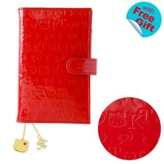 2013 Hello Kitty Schedule Book Pocket Weekly Planner Embossing PVC