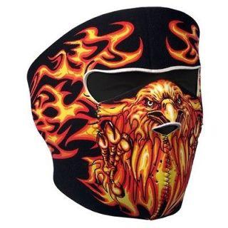 in 1 Reversible Motorcycle Biker, Skiers Neoprene Face Mask