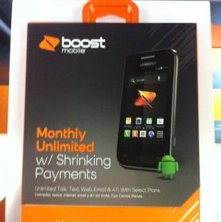 Samsung Galaxy Rush   Black (Boost Mobile) Smartphone