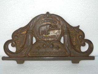 Rare Old Elephant Embossed Mammoth Brand Cast Iron Ad Sign, Austria