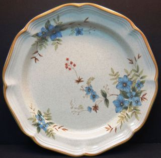 Mikasa Garden Club Day Dreams Dinner Plate Blue Floral flowers