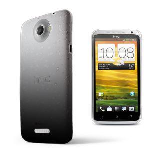 Black 3D RAIN DROP DESIGN HARD CASE COVER for HTC ONEX One X + Film