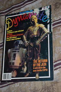 Dynamite Star Wars Issue Scholastic Magazine 1983,Return Of the Jedi