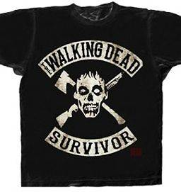 AUTHENTIC THE WALKING DEAD SURVIVOR ZOMBIE AXE ADULT T TEE SHIRT 3XL