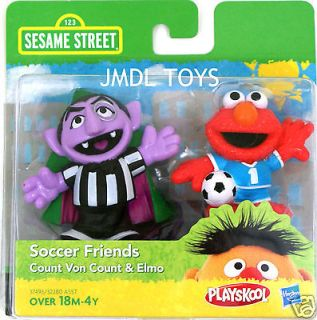 SESAME STREET SOCCER FRIENDS COUNT VON COUNT & ELMO NEW IN PACKAGE