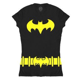 BATGIRL BATMAN SYMBOL LOGO WOMENS JUNIORS T SHIRT BABY TEE NEW