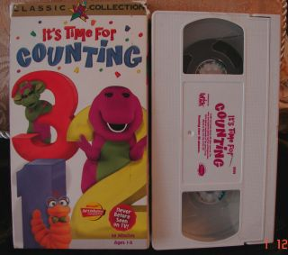 Barney Its Time For Counting VHS Video Actimates Educational Toddler