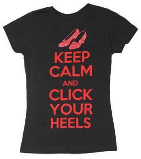 Keep Calm   Wizard Of Oz Sheer Junior Womens T shirt