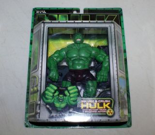 2003 Toy Biz Marvel Movie Hulk Smash & Crush Hulk with Military Truck