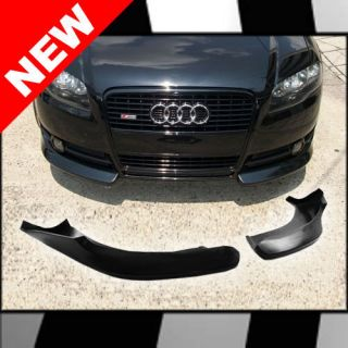 05 08 AUDI A4 B7 V STYLE EURO FRONT BUMPER LIP SPLITTERS   PAIR (Fits