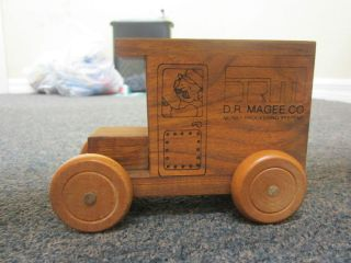 TOYSTALGIA ~ D.R. Magee Co. ~ Wood Armored Truck Bank Car Wooden 1984