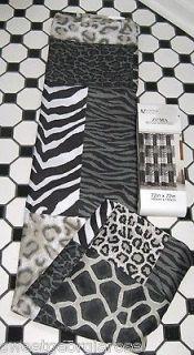 ANIMAL PRINT Zuma ZEBRA leopard Fabric Shower Curtain SAFARI BLACK