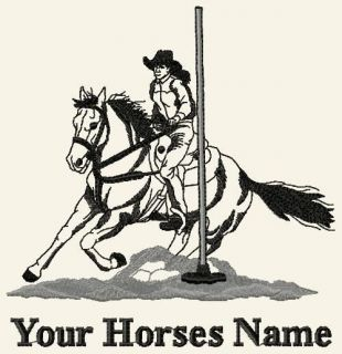 POLE BENDING / POLES Custom Personalized Horse T shirt / Y M to Adult
