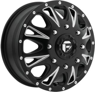 17 inch 17x6.5 Fuel Throttle Dually Dualie black wheel rim 8x210 2012