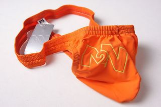 N2N SWIM ORANGE POPSICLE POUCH THONG SWIMSUIT SWIMWEAR MEDIUM