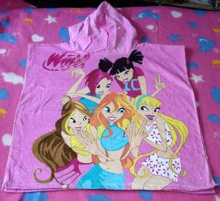 100%Cotton 120x60cm Pink Girls Poncho Beach Bath Hooded Towel NEW
