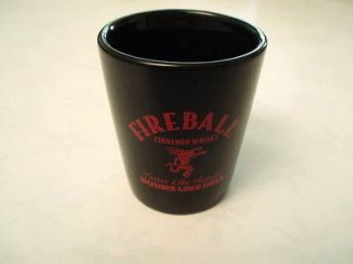 One NEW Fireball whiskey ceramic shot glass. Letter B.