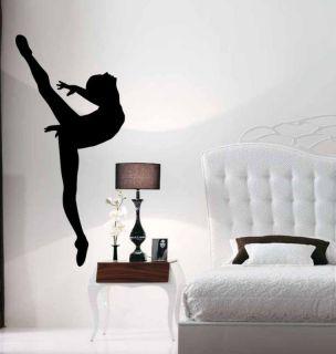 Ballet Ballerina Dancer Girl Vinyl Wall Sticker Decal