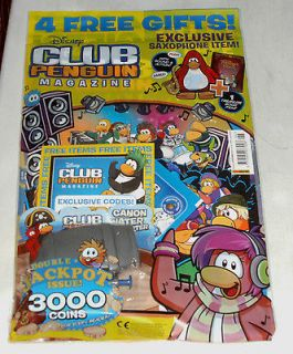 Club Penguin magazine Issue #6: with 2 free items, 3000 coins, water