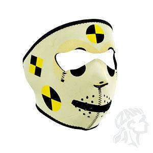 ZANheadgear Neoprene Full Face Mask, Crash Test Dummy, Motorcycle Wear
