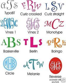 Car Monogram Decal Sticker Initials Vines Curlz & More