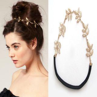 Leaves Leaf Headband Ring Hair Band Wrap Cuff Headwrap Forehead Lady