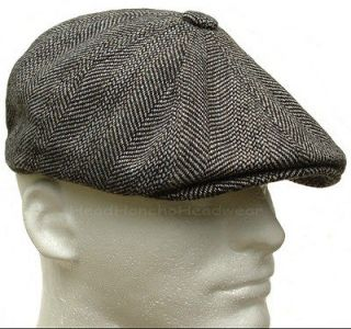 633caeca4a STETSON WOOL TWEED GATSBY Cap Newsboy Hat Golf Men Brown Ivy Flat