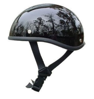VOSS NOVELTY MOTORCYCLE HELMET GLOSS BLACK BULLET BEANIE   GREAT GIFT